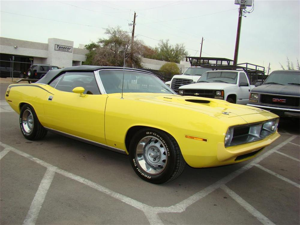 1970 PLYMOUTH BARRACUDA CUSTOM CONVERTIBLE - Front 3/4 - 91683