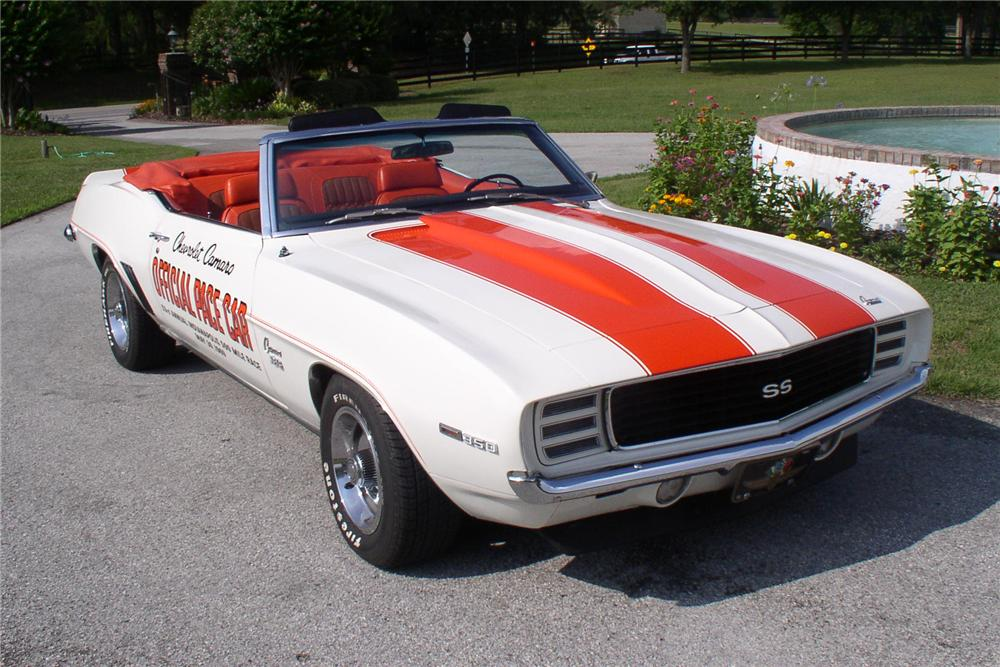1969 CHEVROLET CAMARO SS PACE CAR CONVERTIBLE - Front 3/4 - 91696