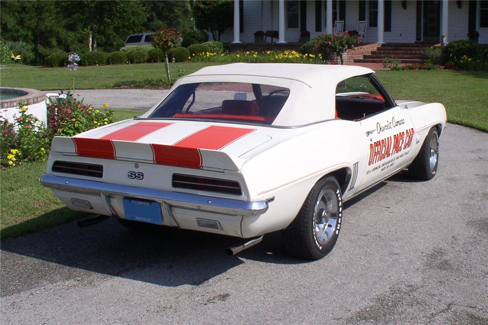 1969 CHEVROLET CAMARO SS PACE CAR CONVERTIBLE - Rear 3/4 - 91696