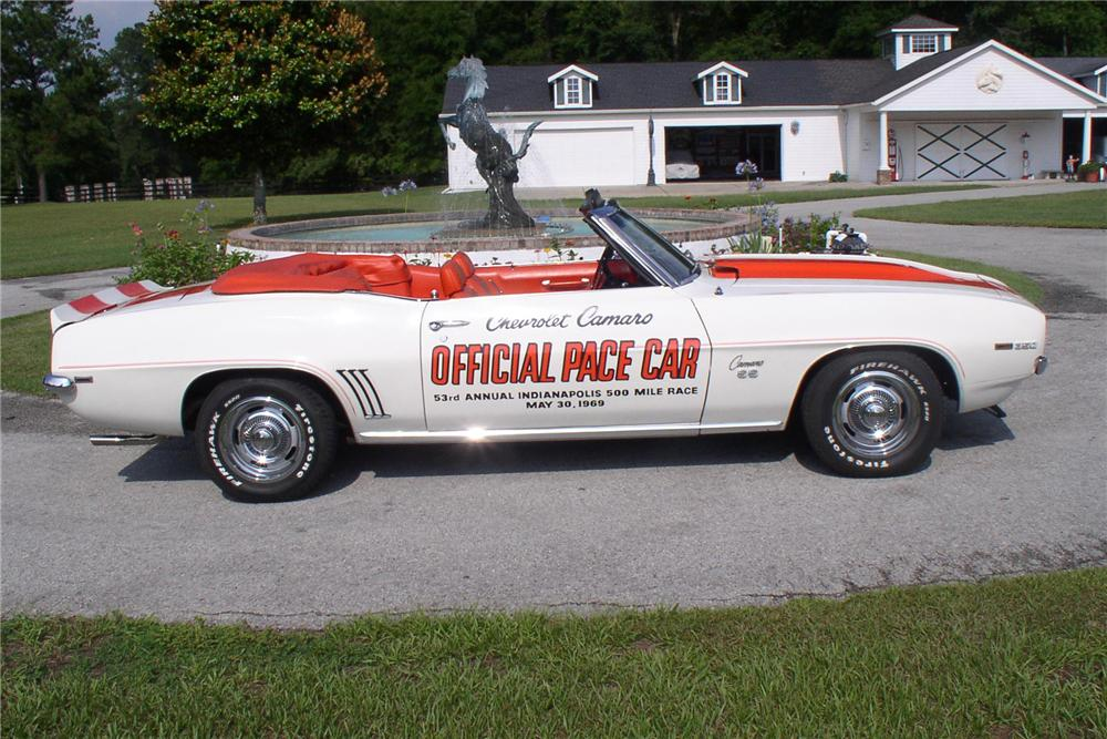 1969 CHEVROLET CAMARO SS PACE CAR CONVERTIBLE - Side Profile - 91696