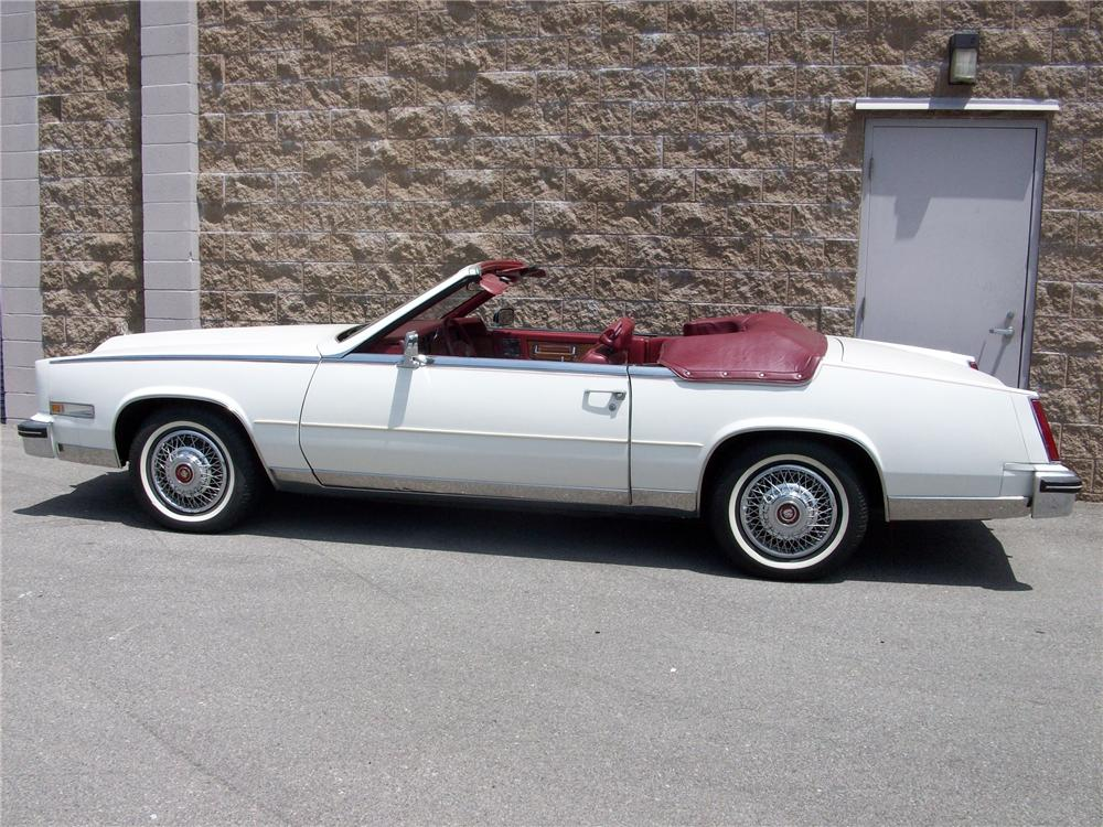 1985 CADILLAC ELDORADO CONVERTIBLE - Side Profile - 91700