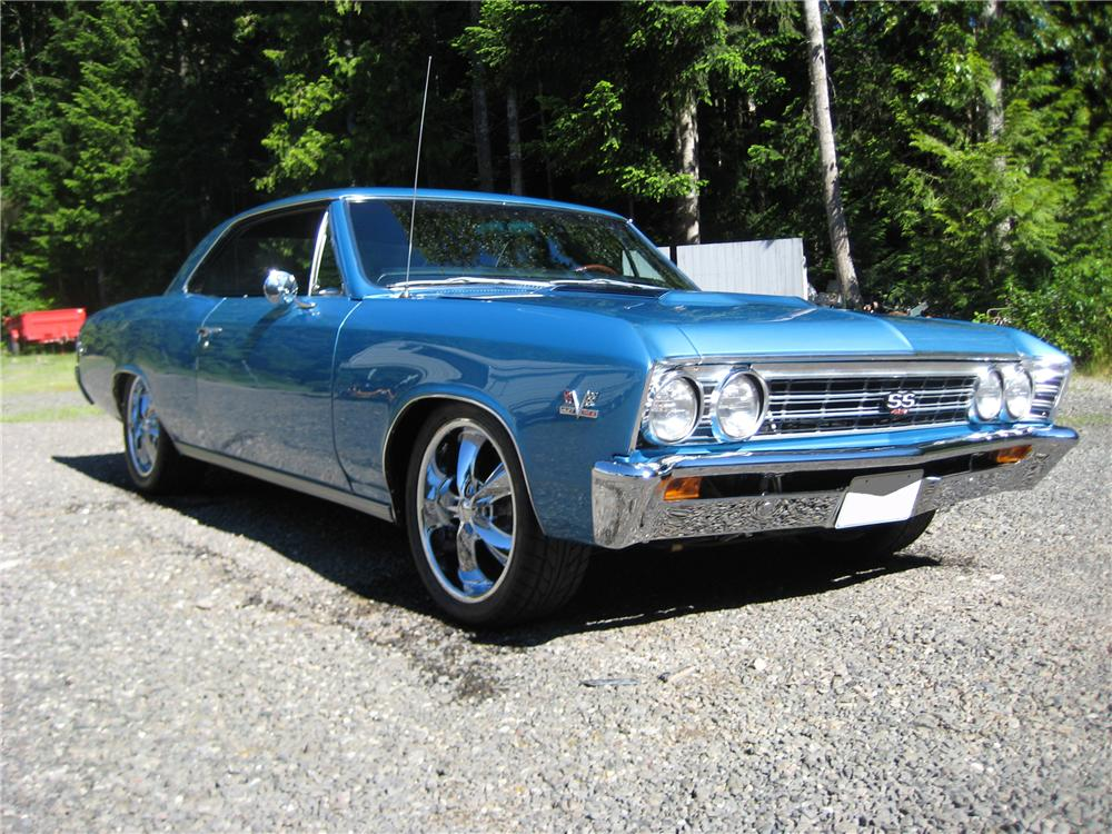 1967 CHEVROLET CHEVELLE CUSTOM 2 DOOR - Front 3/4 - 91703
