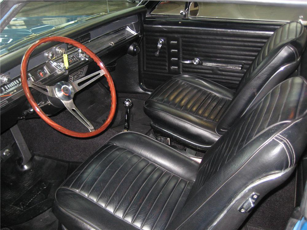 1967 CHEVROLET CHEVELLE CUSTOM 2 DOOR - Interior - 91703