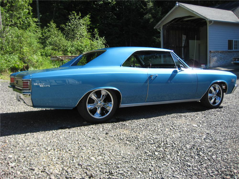 1967 CHEVROLET CHEVELLE CUSTOM 2 DOOR - Side Profile - 91703