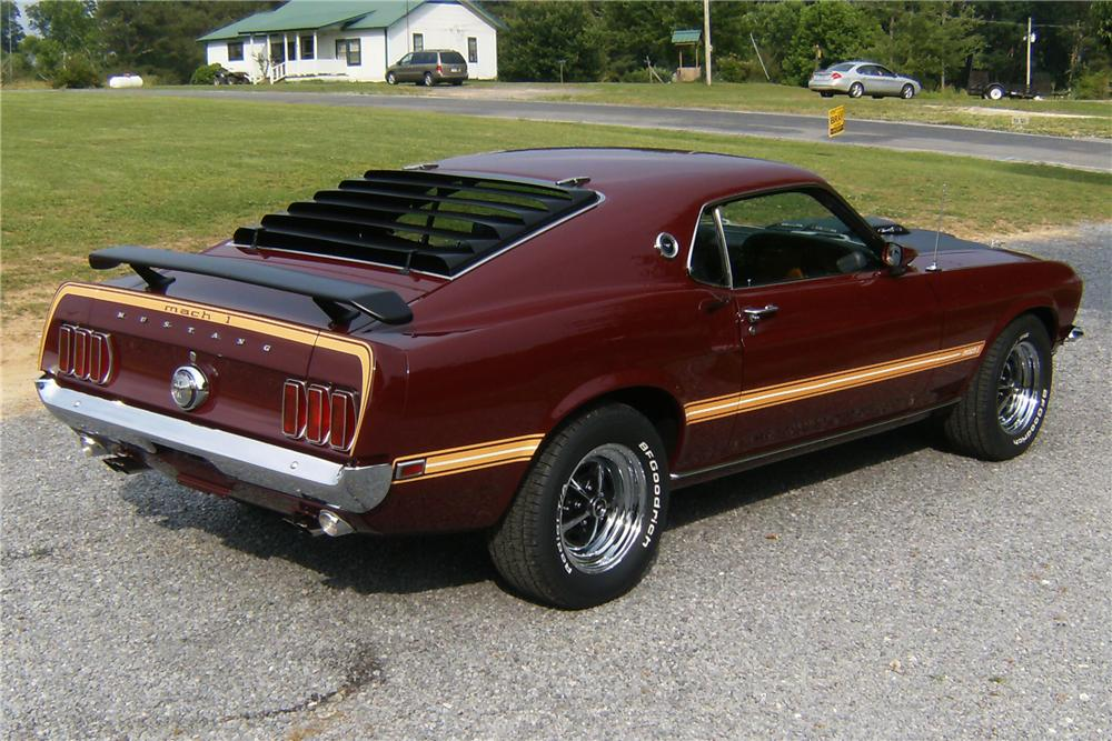 1969 FORD MUSTANG MACH 1 FASTBACK - Rear 3/4 - 91713