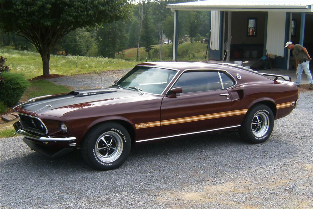 1969 FORD MUSTANG MACH 1 FASTBACK - Side Profile - 91713