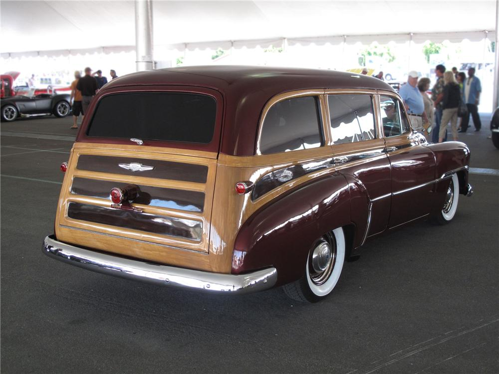 1951 CHEVROLET STYLELINE CUSTOM TIN WOODY WAGON - Rear 3/4 - 91733