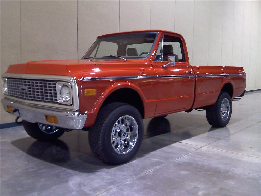 1971 CHEVROLET K10 CUSTOM PICKUP - Front 3/4 - 91738