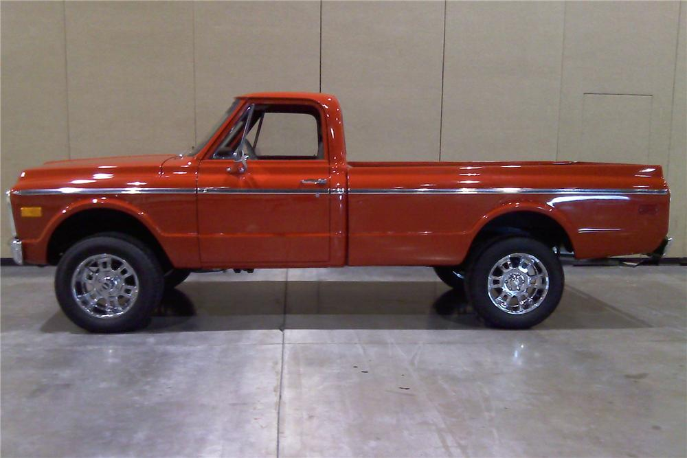 1971 CHEVROLET K10 CUSTOM PICKUP - Side Profile - 91738