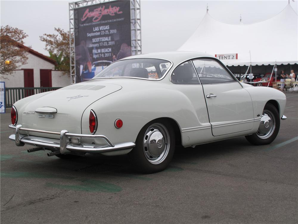 1969 VOLKSWAGEN KARMANN GHIA 2 DOOR COUPE - Rear 3/4 - 91742