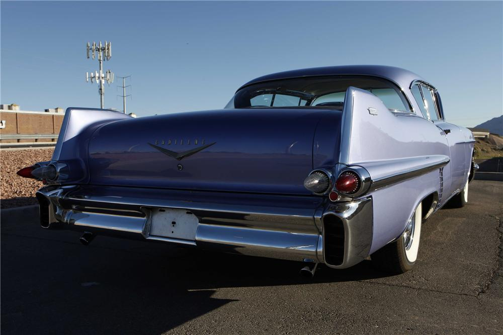 1957 CADILLAC SERIES 62 COUPE DEVILLE - Rear 3/4 - 91746