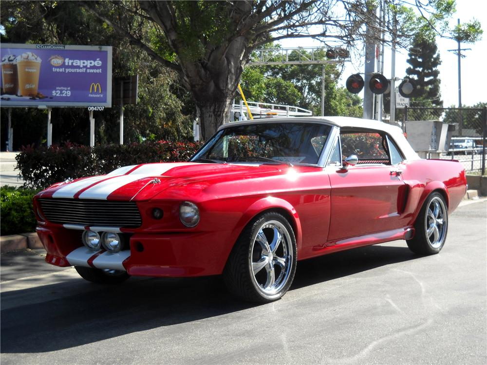 1968 FORD MUSTANG CUSTOM CONVERTIBLE - Front 3/4 - 91749