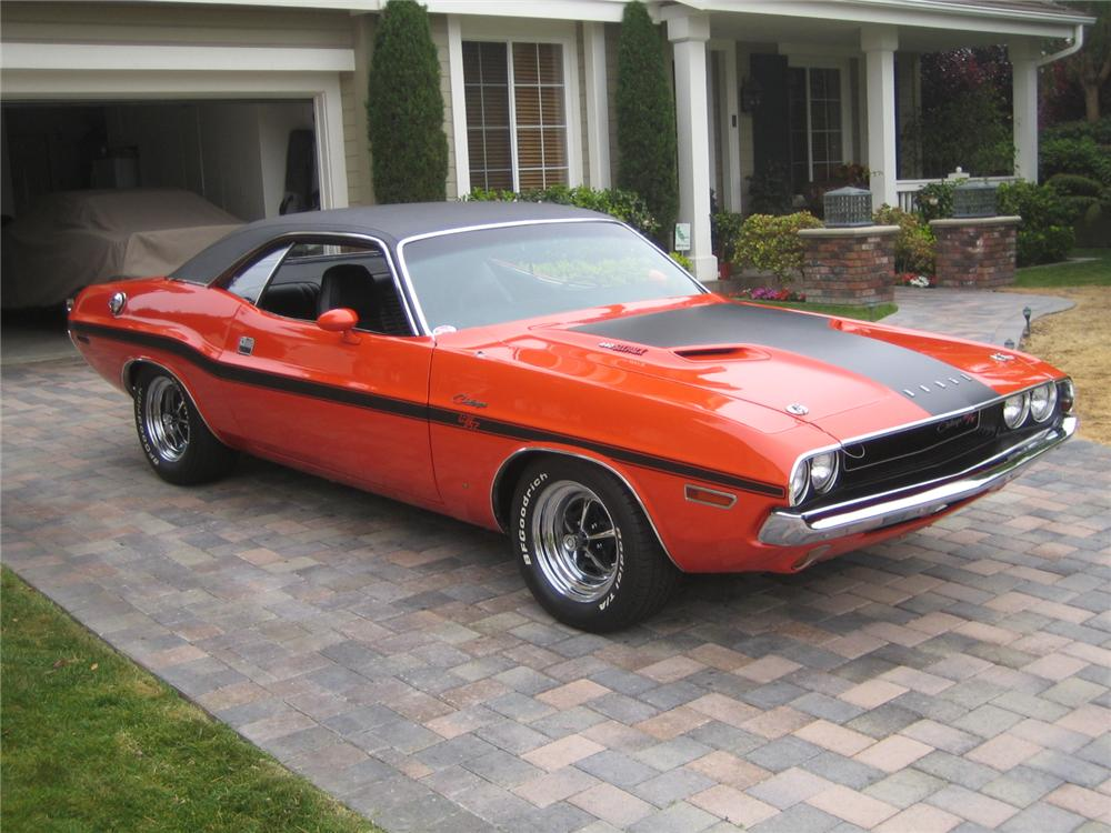 1970 DODGE CHALLENGER R/T 2 DOOR COUPE - Side Profile - 92237