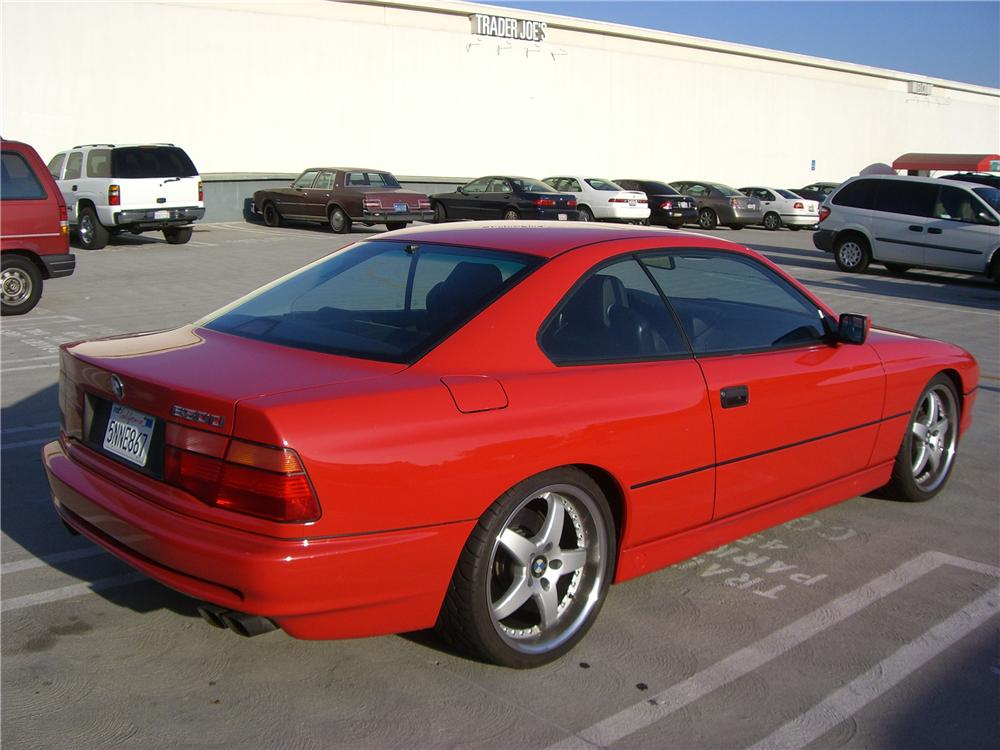 1993 BMW 850CI 2 DOOR COUPE - Rear 3/4 - 92313