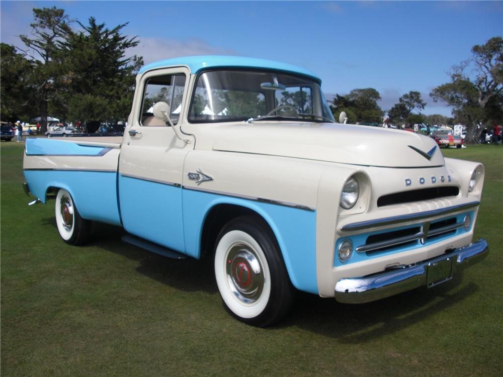 1957 DODGE D-100 SWEPTSIDE PICKUP - Front 3/4 - 93214