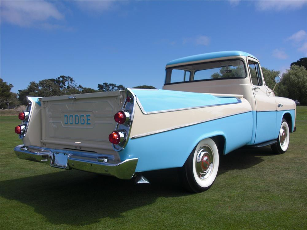 1957 DODGE D-100 SWEPTSIDE PICKUP - Rear 3/4 - 93214
