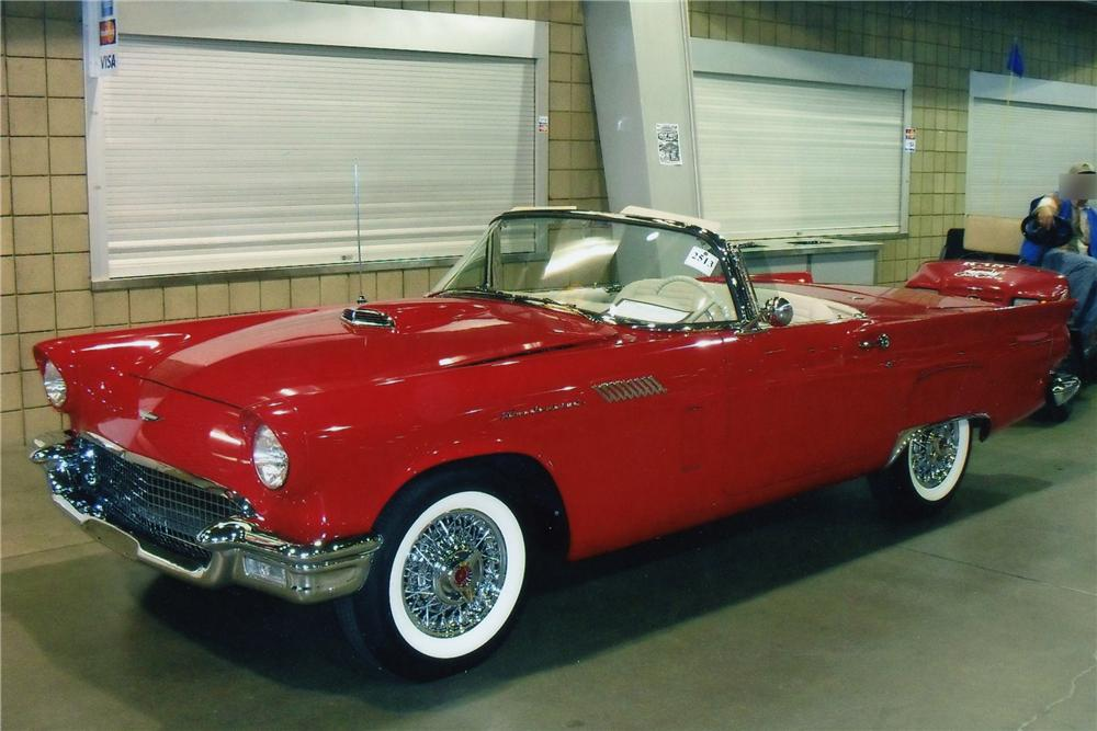 1957 FORD THUNDERBIRD CONVERTIBLE - Front 3/4 - 93222