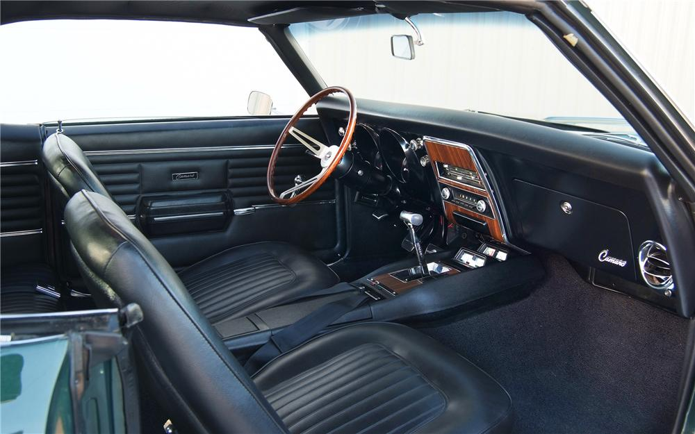 1968 CHEVROLET CAMARO CUSTOM 2 DOOR HARDTOP - Interior - 93233