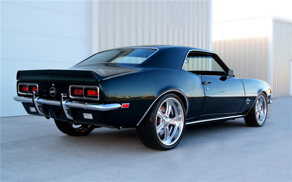 1968 CHEVROLET CAMARO CUSTOM 2 DOOR HARDTOP - Rear 3/4 - 93233