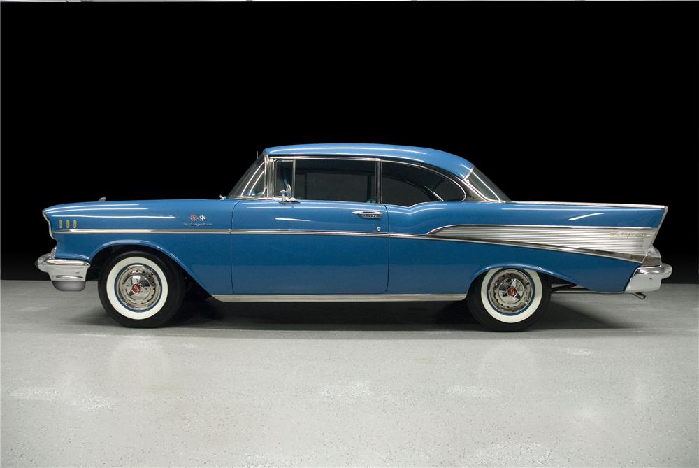 1957 CHEVROLET BEL AIR 2 DOOR HARDTOP - Side Profile - 93241