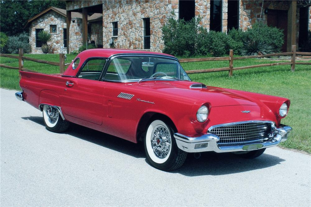 1957 FORD THUNDERBIRD CONVERTIBLE - Front 3/4 - 93245
