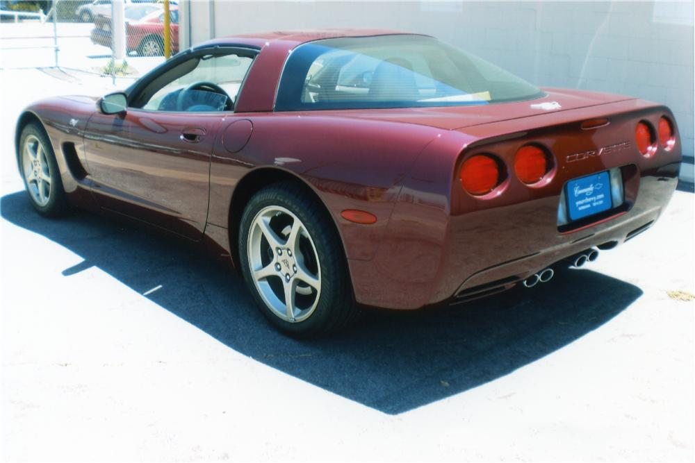 2003 CHEVROLET CORVETTE 50TH ANNIVERSARY COUPE - Rear 3/4 - 93256
