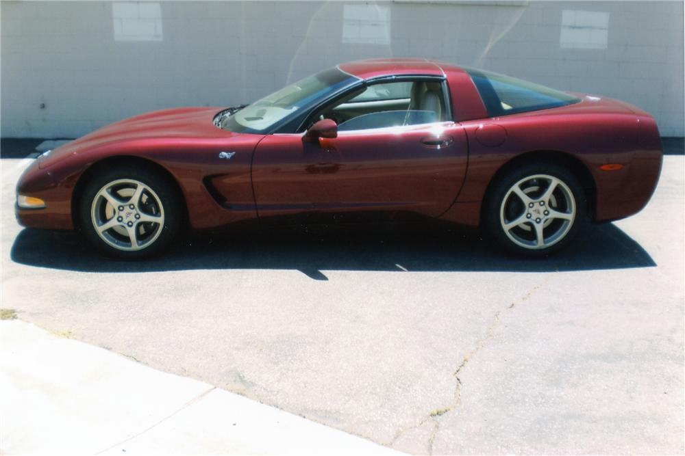 2003 CHEVROLET CORVETTE 50TH ANNIVERSARY COUPE - Side Profile - 93256