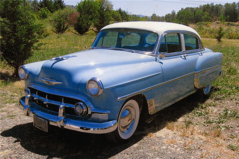 1953 chevrolet bel air 4 door sedan 93258