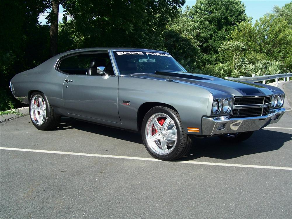 1970 CHEVROLET CHEVELLE CUSTOM 2 DOOR COUPE - Side Profile - 93269