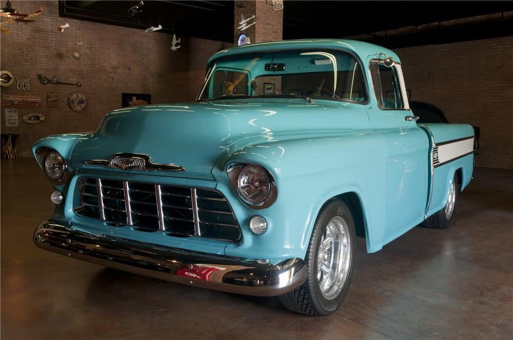 1955 CHEVROLET CAMEO CUSTOM PICKUP - Front 3/4 - 93271