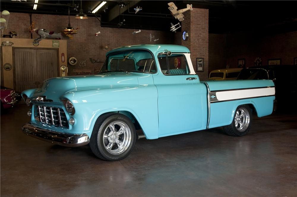 1955 CHEVROLET CAMEO CUSTOM PICKUP - Side Profile - 93271
