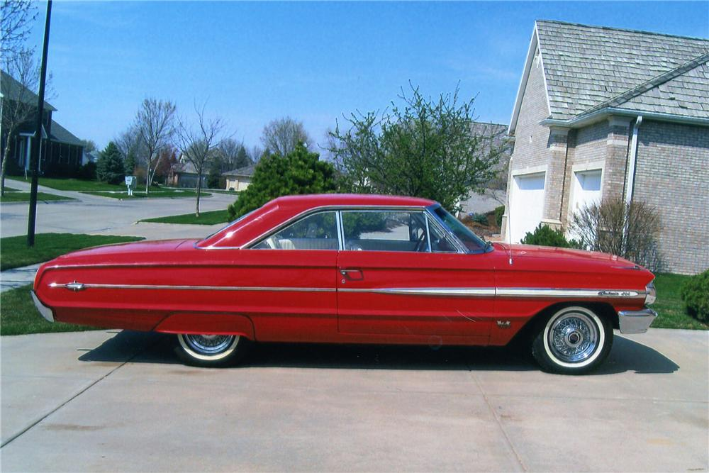 1964 FORD GALAXIE 500 2 DOOR FASTBACK - Side Profile - 93274