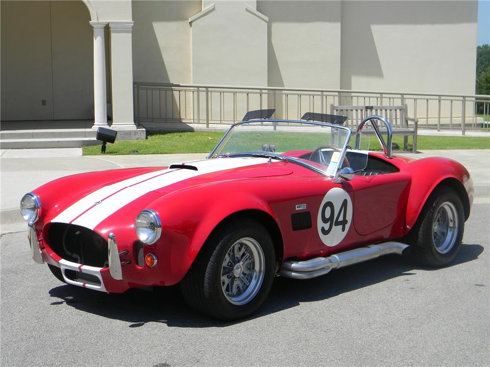 1967 COBRA ROADSTER RE-CREATION - Front 3/4 - 93286