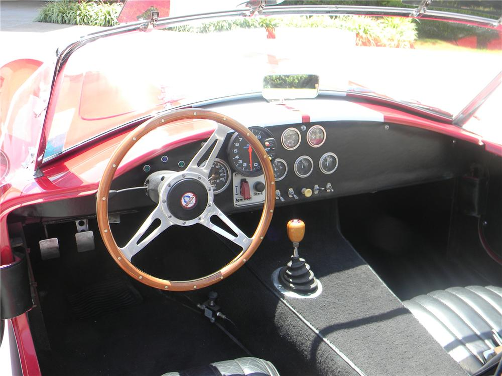 1967 COBRA ROADSTER RE-CREATION - Interior - 93286