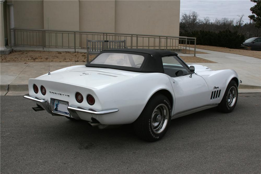 1969 CHEVROLET CORVETTE CONVERTIBLE L-88 RE-CREATION - Rear 3/4 - 93291