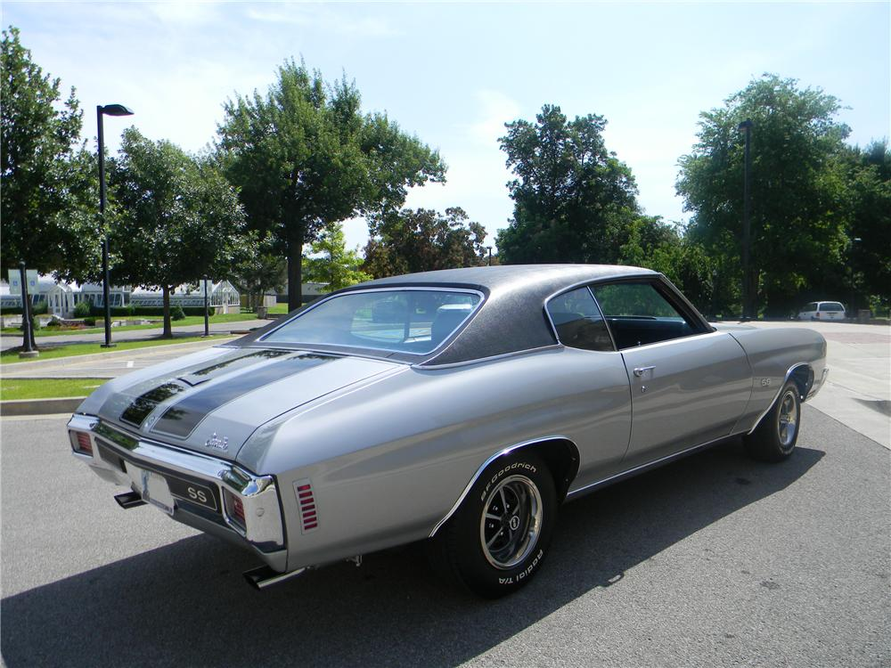 1970 CHEVROLET CHEVELLE SS 2 DOOR COUPE - Rear 3/4 - 93292