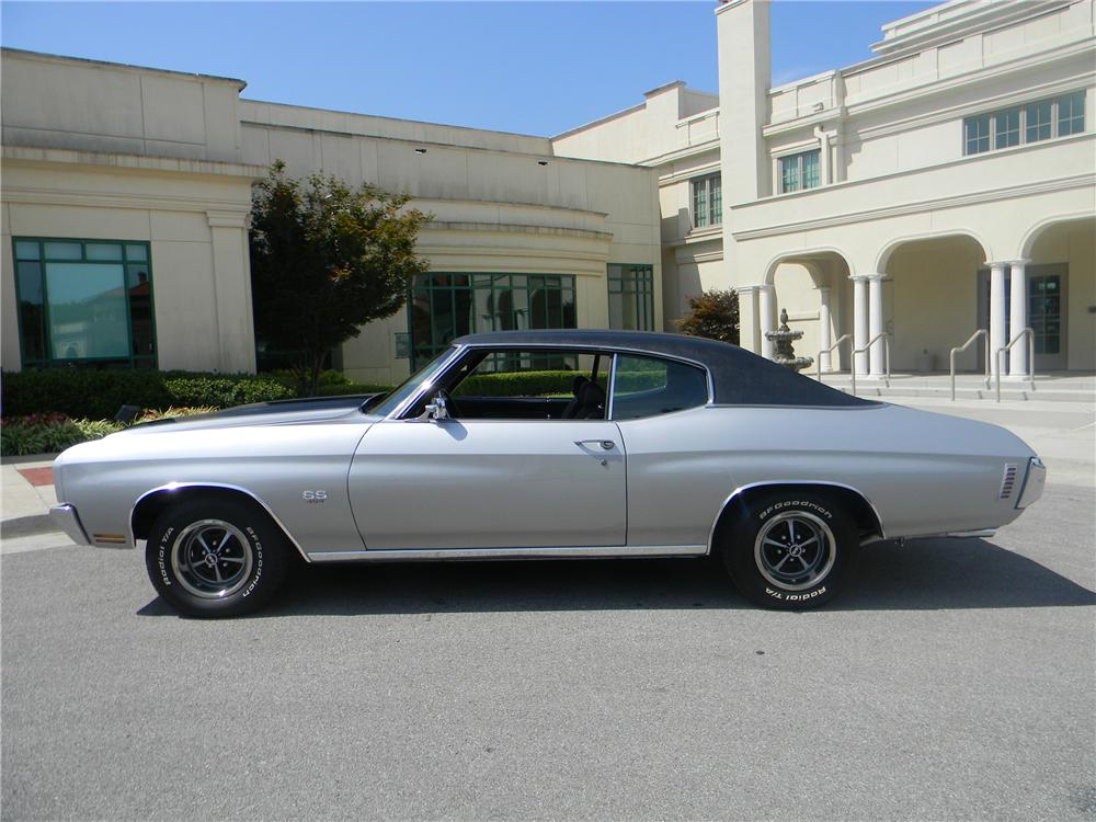 1970 CHEVROLET CHEVELLE SS 2 DOOR COUPE - Side Profile - 93292