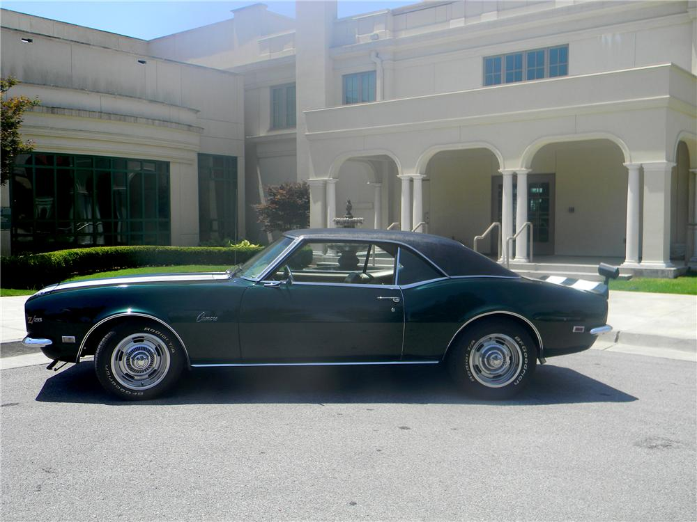 1968 CHEVROLET CAMARO Z/28 2 DOOR COUPE - Side Profile - 93295
