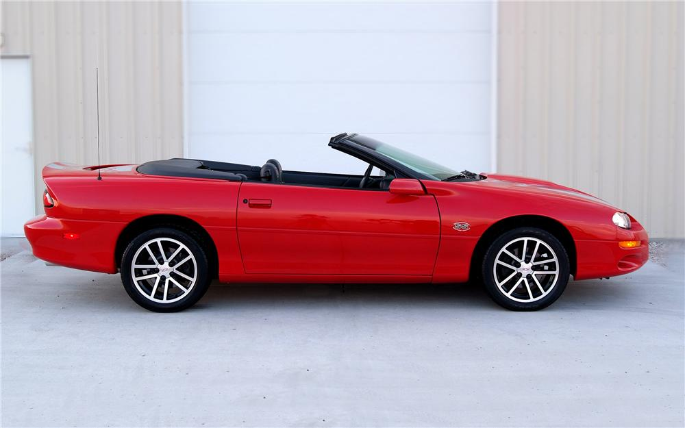 2002 CHEVROLET CAMARO SS CONVERTIBLE - Side Profile - 93325