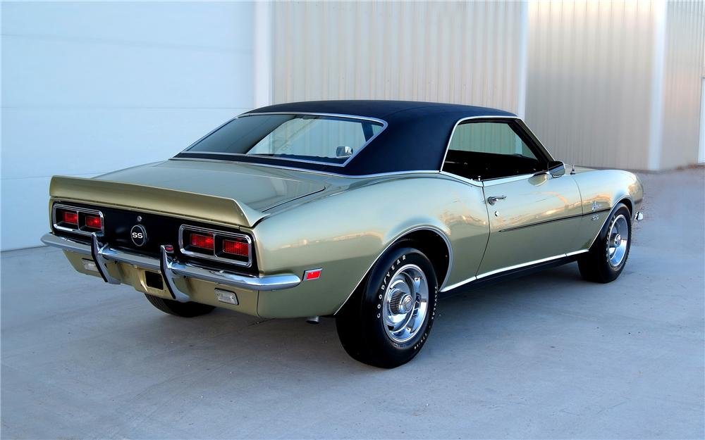 1968 CHEVROLET CAMARO CUSTOM COUPE - Rear 3/4 - 93330