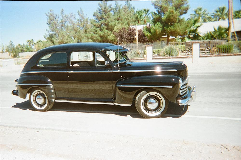 1948 FORD DELUXE 2 DOOR SEDAN - Side Profile - 93333