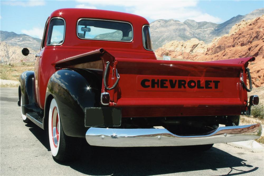 1950 CHEVROLET 3100 PICKUP - Rear 3/4 - 93349