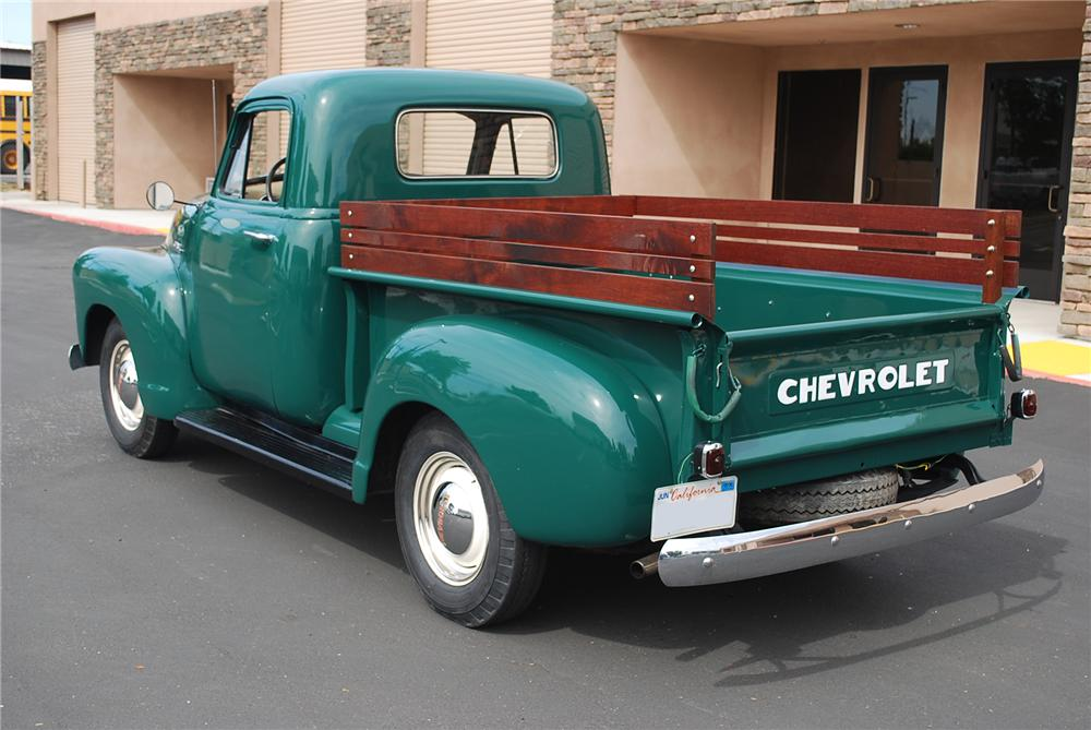 1951 CHEVROLET 3100 PICKUP - Rear 3/4 - 93361