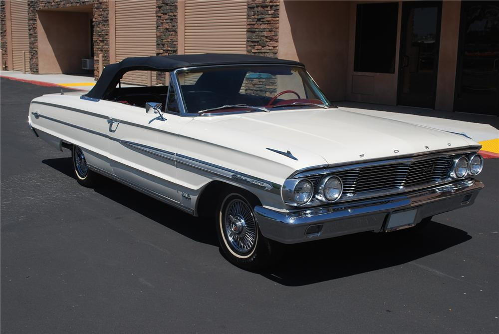 1964 FORD GALAXIE 500 XL CONVERTIBLE - Front 3/4 - 93362