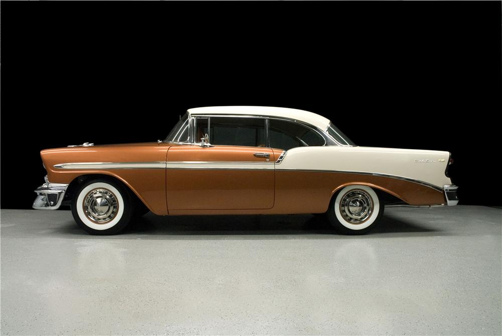 1956 CHEVROLET BEL AIR 2 DOOR HARDTOP - Side Profile - 93363
