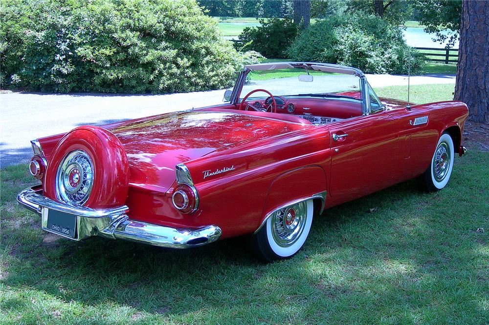 1956 FORD THUNDERBIRD CONVERTIBLE - Rear 3/4 - 93365