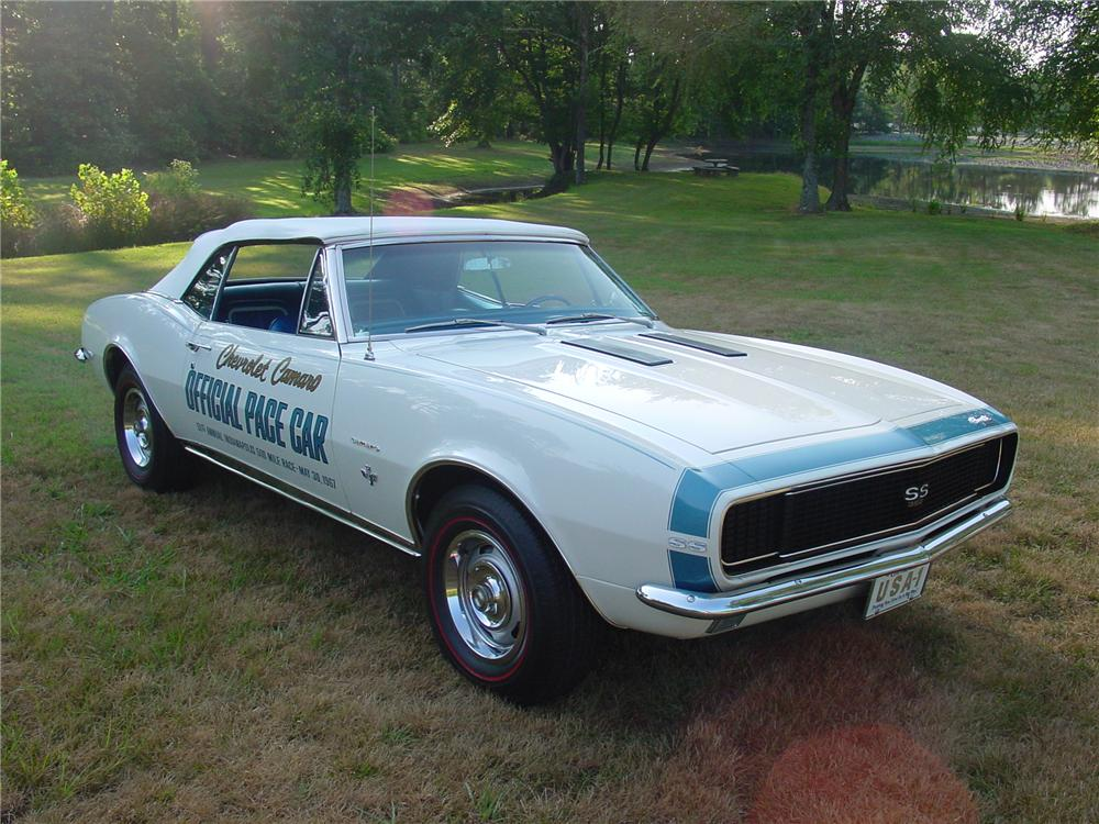 1967 CHEVROLET CAMARO RS/SS PACE CAR CONVERTIBLE - Front 3/4 - 93371