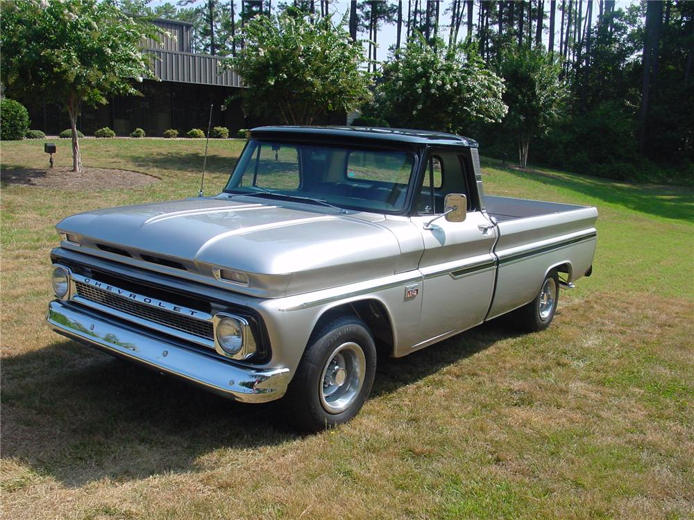 1966 CHEVROLET C-10 CUSTOM PICKUP - Front 3/4 - 93374