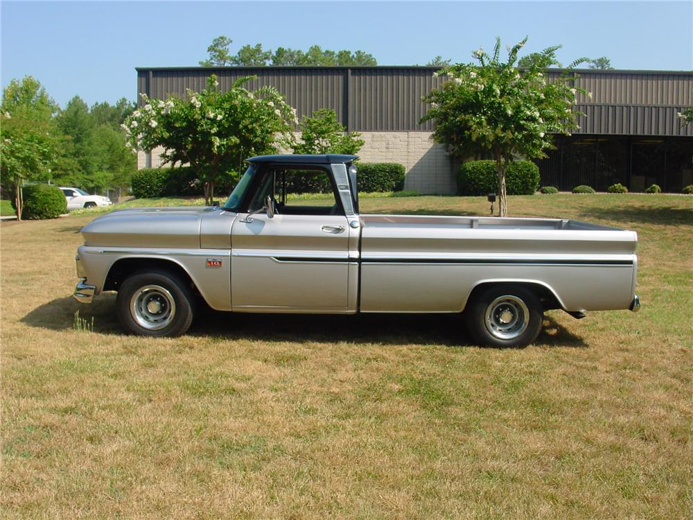 1966 CHEVROLET C-10 CUSTOM PICKUP - Side Profile - 93374