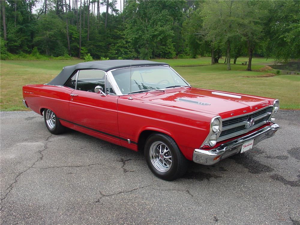 1966 FORD FAIRLANE 500 GT CONVERTIBLE - Front 3/4 - 93375